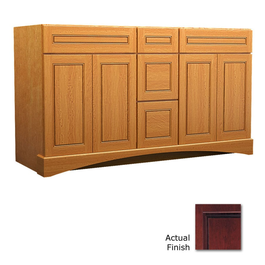 KraftMaid Cabernet 60-in Casual Bathroom Vanity