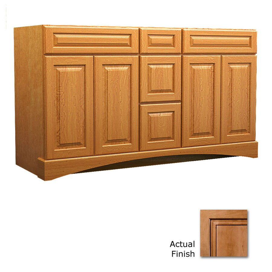 KraftMaid Ginger with Sable Glaze Bathroom Vanity (Common: 60-in x 21-in; Actual: 60-in x 21-in)