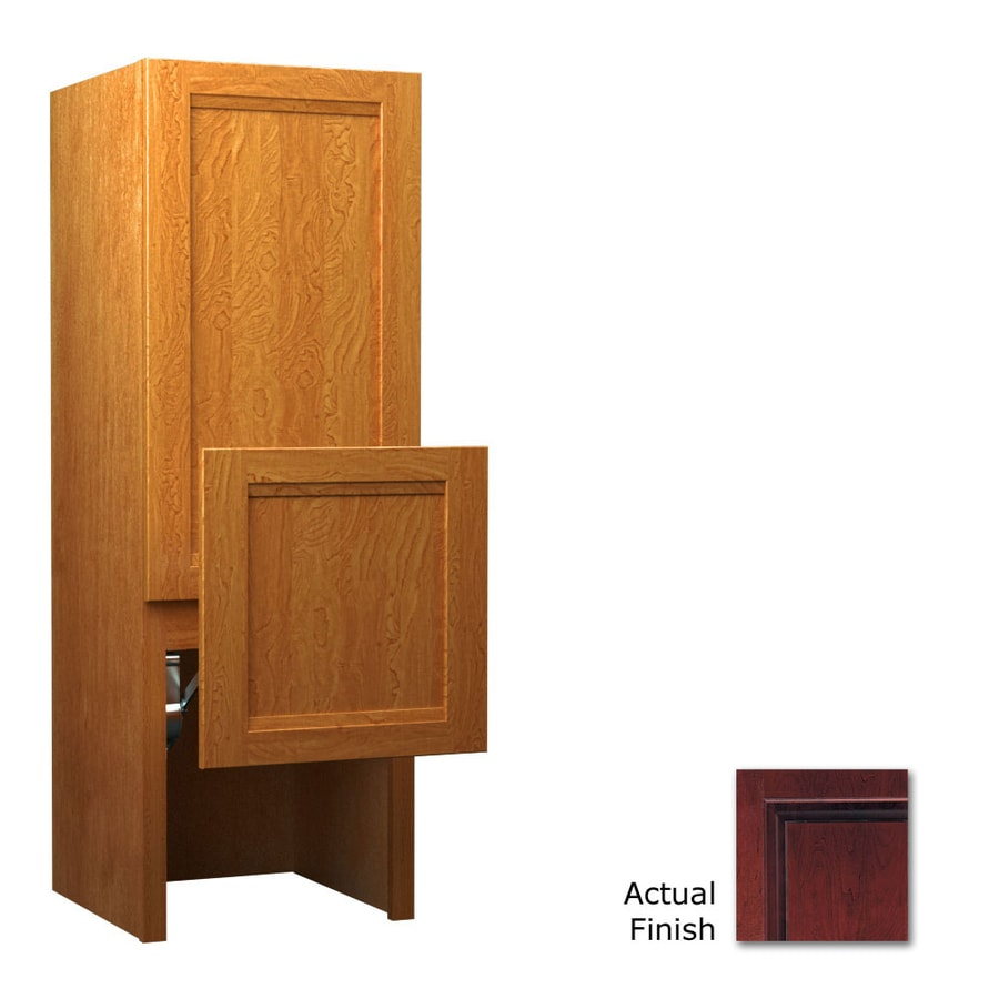 KraftMaid 18-in W x 52.5-in H x 15-in D 0-Drawer Cherry Freestanding Cabinet Banks