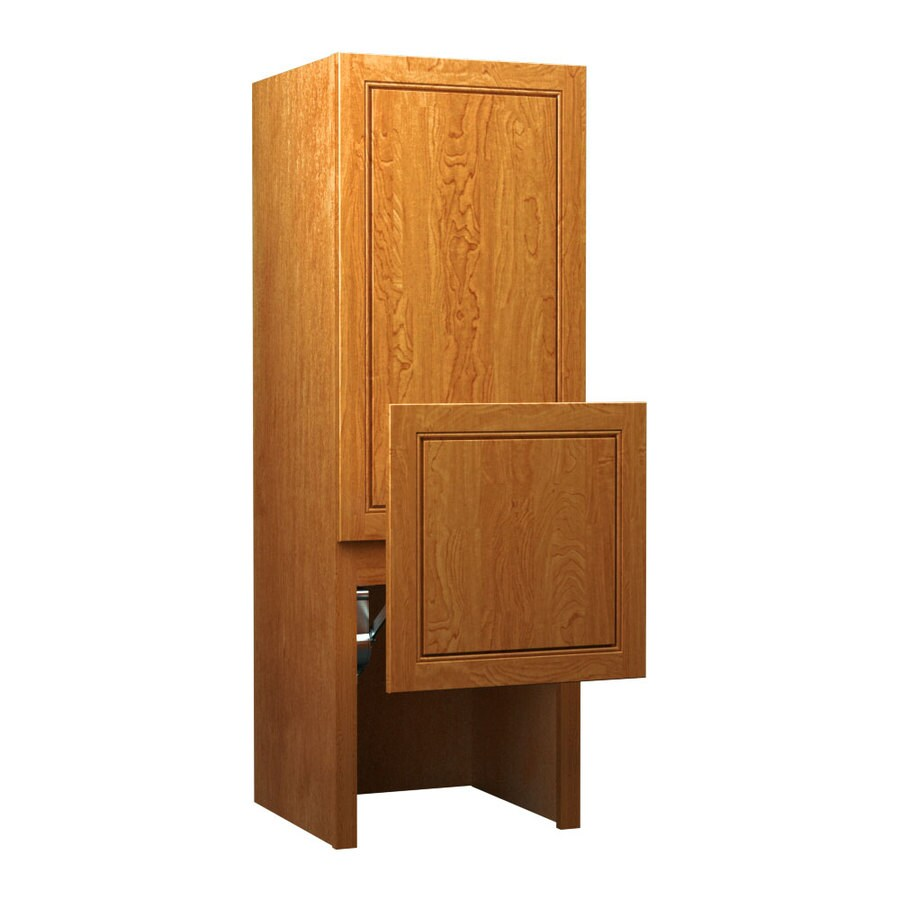 KraftMaid 18-in W x 52.5-in H x 18-in D 0-Drawer Maple Freestanding Cabinet Banks