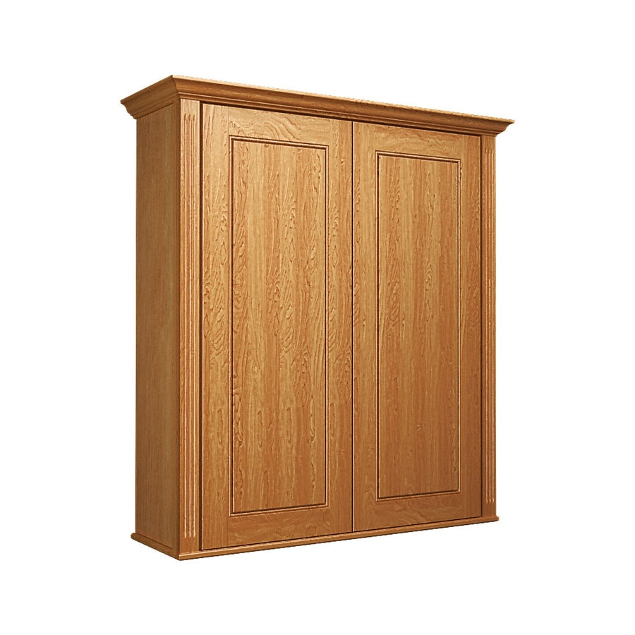KraftMaid 27-in W x 30-in H x 8-in D Praline Bathroom Wall Cabinet