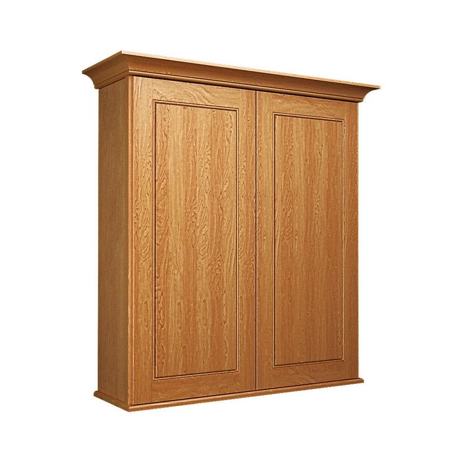 KraftMaid 27-in W x 30-in H x 8-in D Praline Maple Bathroom Wall Cabinet