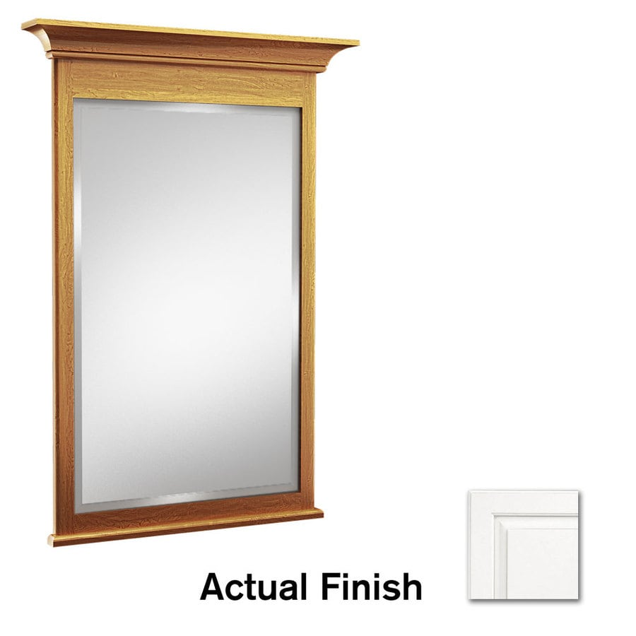 KraftMaid 30-in W x 36-in H White Rectangular Bathroom Mirror