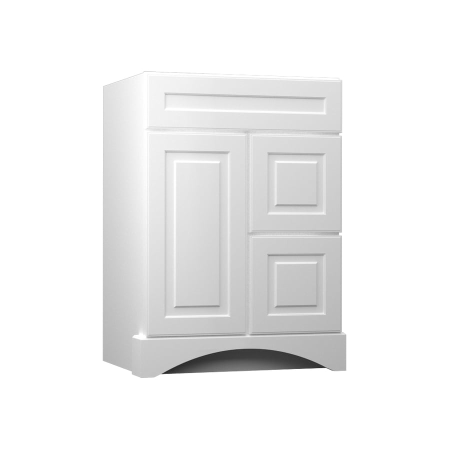shop kraftmaid white bathroom vanity common 24 in x 21 in actual 24 in x 21 in at