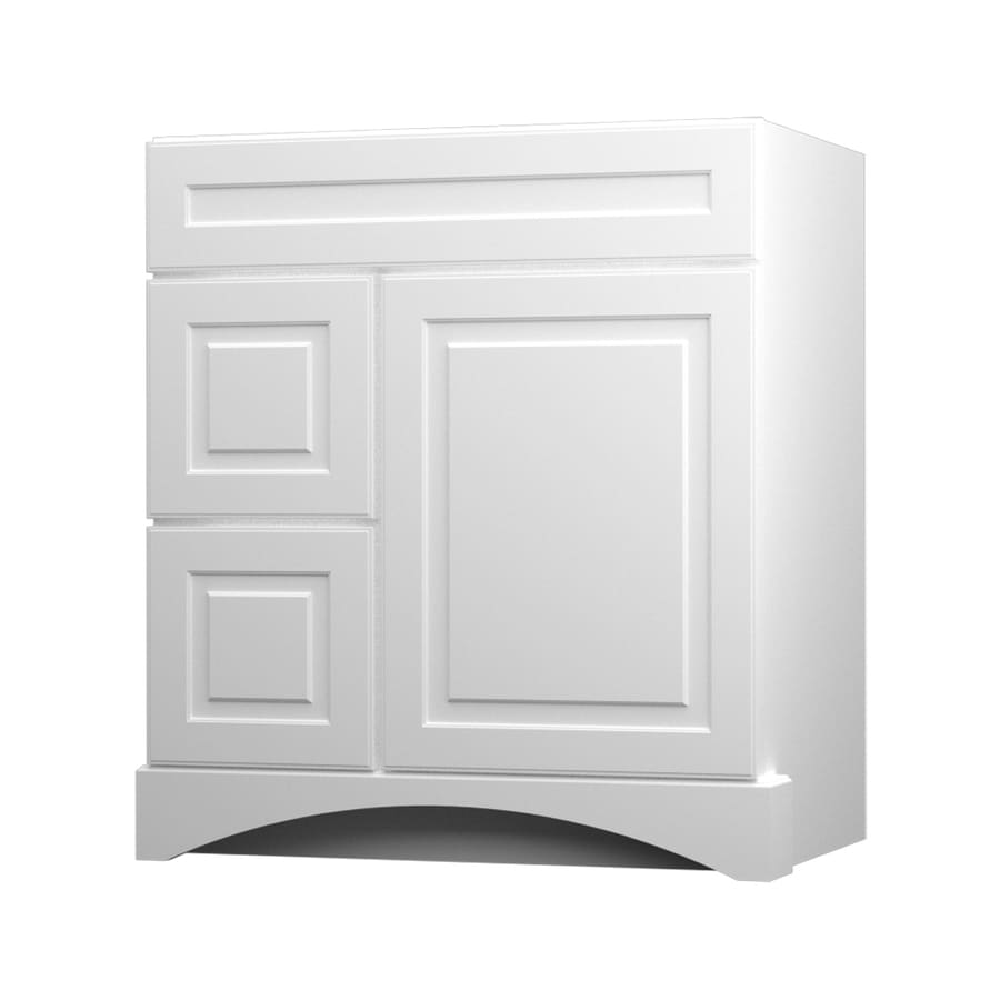Merveilleux KraftMaid White Bathroom Vanity (Common: 30 In X 21 In; Actual