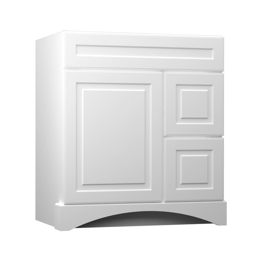 Bathroom Vanity 30 X 21 shop kraftmaid white bathroom vanity (common: 36-in x 21-in