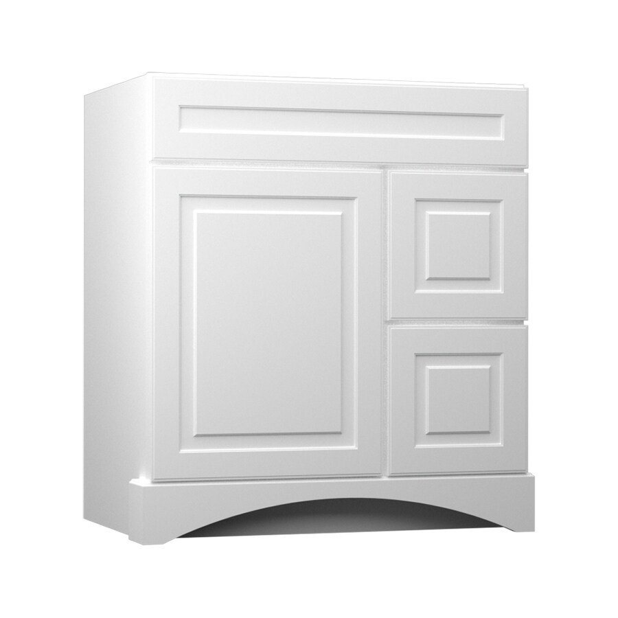 Bathroom Vanity Kraftmaid shop kraftmaid white bathroom vanity (common: 36-in x 21-in