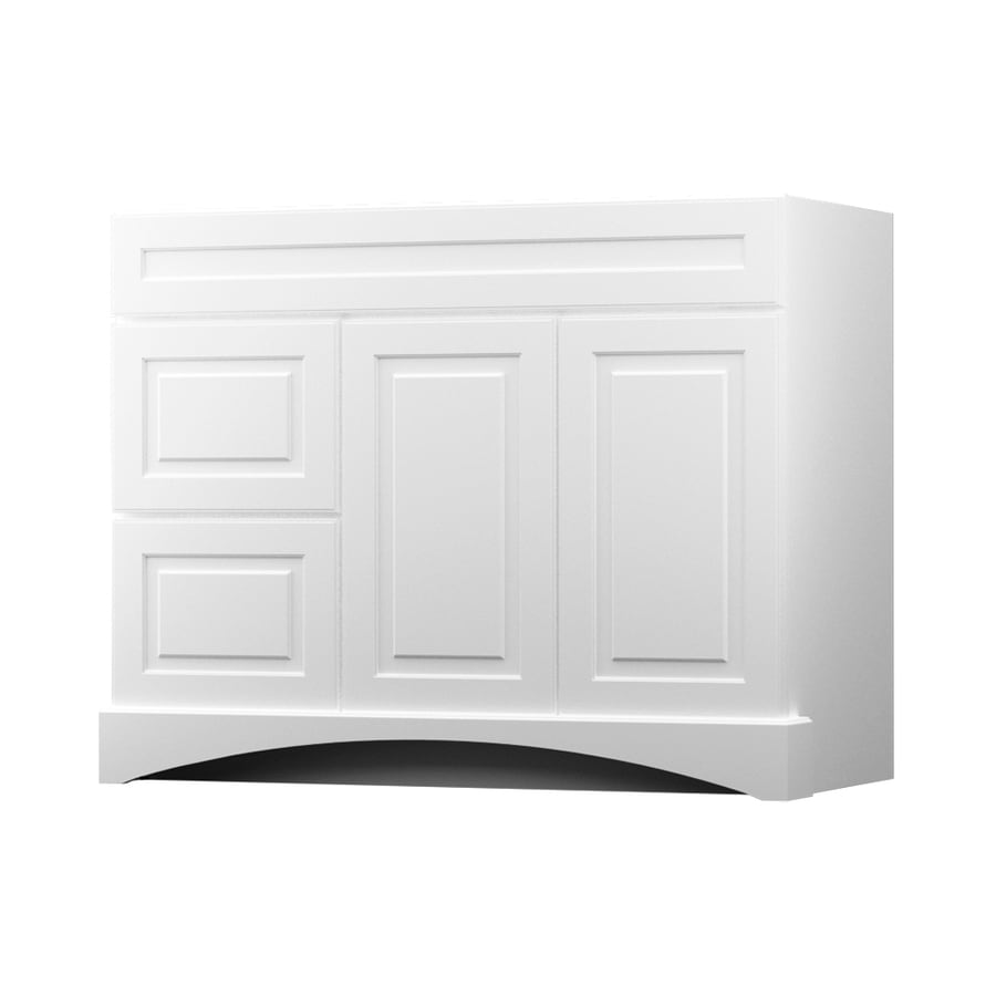 kraftmaid white bathroom vanity common 42in x 21in actual