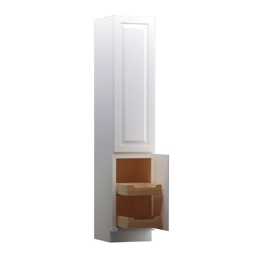 KraftMaid 15-in W x 88.5-in H x 18-in D White Maple Freestanding Linen Cabinet