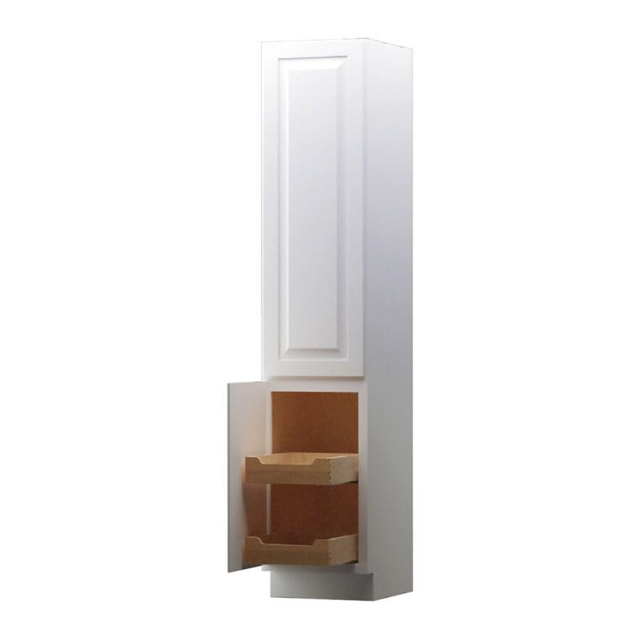 KraftMaid 15-in W x 88.5-in H x 21-in D White Maple Freestanding Linen Cabinet
