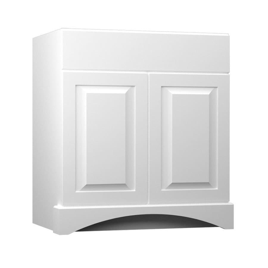 KraftMaid White Bathroom Vanity (Common: 30 In X 21 In; Actual