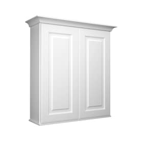 bathroom wall cabinets white. KraftMaid 27 in W x 30 H 8 D Bathroom Shop Wall Cabinets at Lowes com