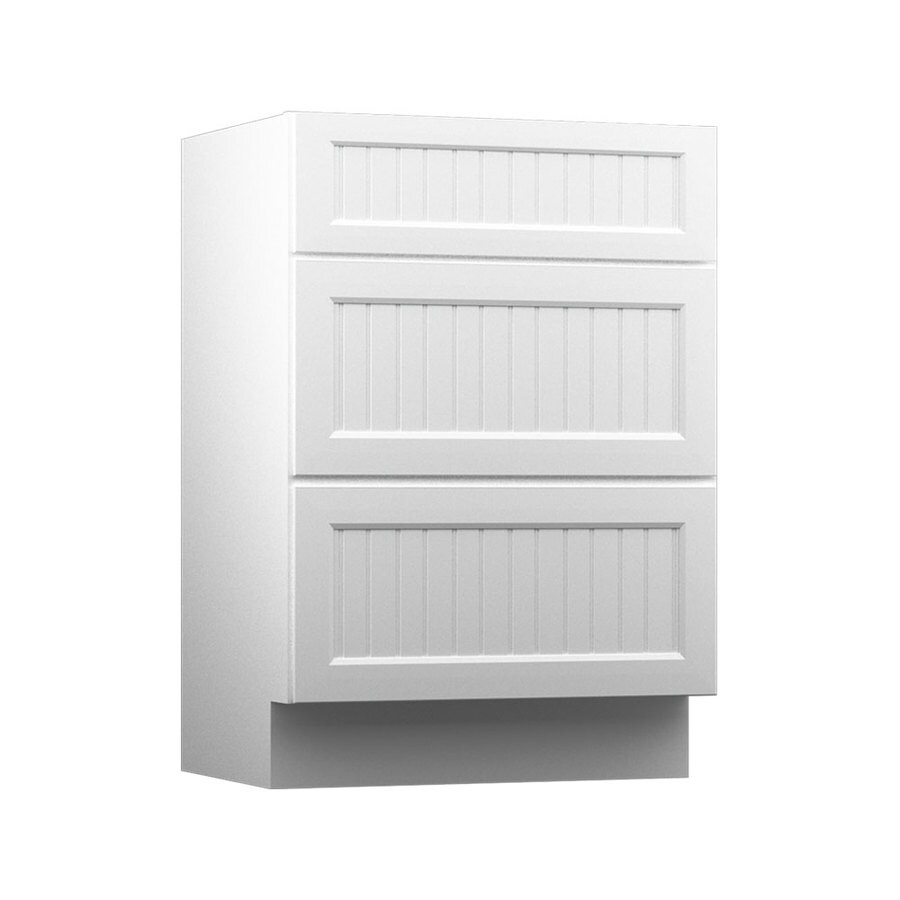 KraftMaid White Bathroom Vanity (Common: 24-in x 21-in; Actual: 24-in x 21-in)