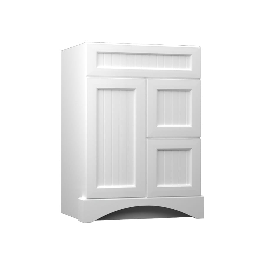 Shop KraftMaid White Bathroom Vanity (Common: 24-inx21-in; Actual: 24-inx21-in) at Lowes.com