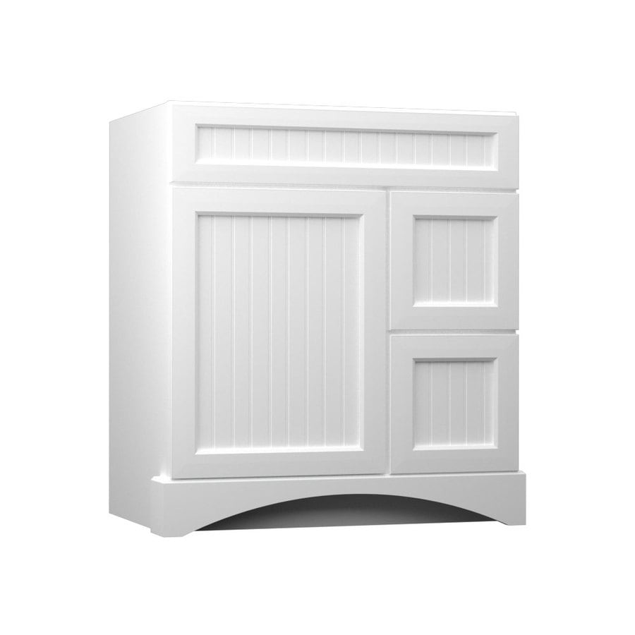 Shop Kraftmaid White Bathroom Vanity Common 30 In X 21 In Actual 30 In X 21 In At