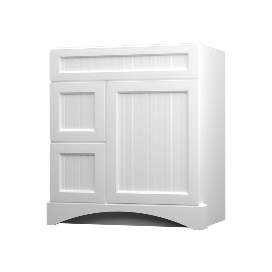 Shop Kraftmaid White Bathroom Vanity Common 36 In X 21 In Actual 36 In X 21 In At