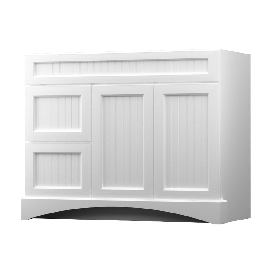 KraftMaid White Bathroom Vanity (Common: 42-in x 21-in; Actual: 42-in x 21-in)