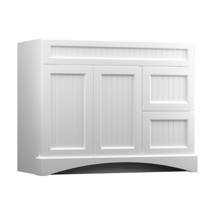 KraftMaid Summerfield Nordic White (Common: 42-in x 21-in) Casual Bathroom Vanity (Actual: 42-in x 21-in)