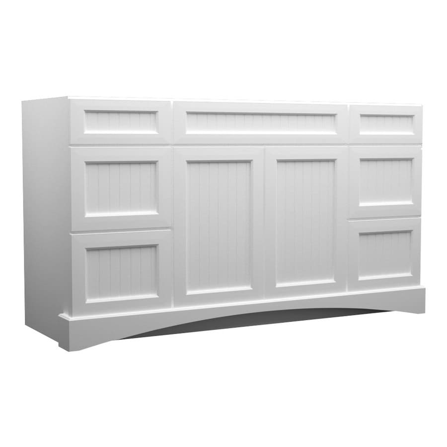 Shop kraftmaid white bathroom vanity common 48 in x 21 for Bathroom cabinets kraftmaid