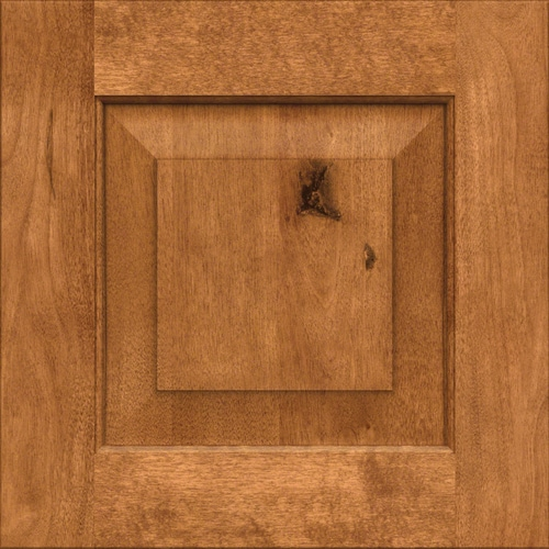 Dakota Rustic Birch Praline 15-in x 15-in Praline Birch Raised Panel  Cabinet Sample