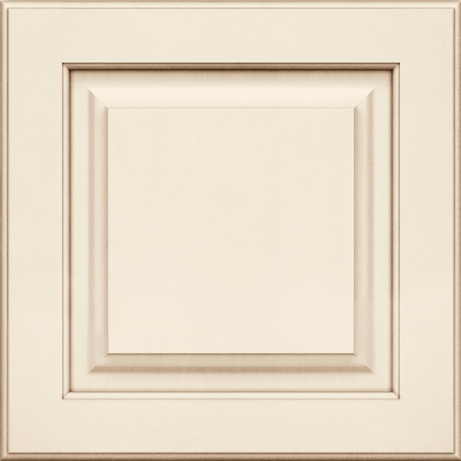 Shop kraftmaid 15 in x 15 in canvas with cocoa glaze for Dove white cabinets with cocoa glaze