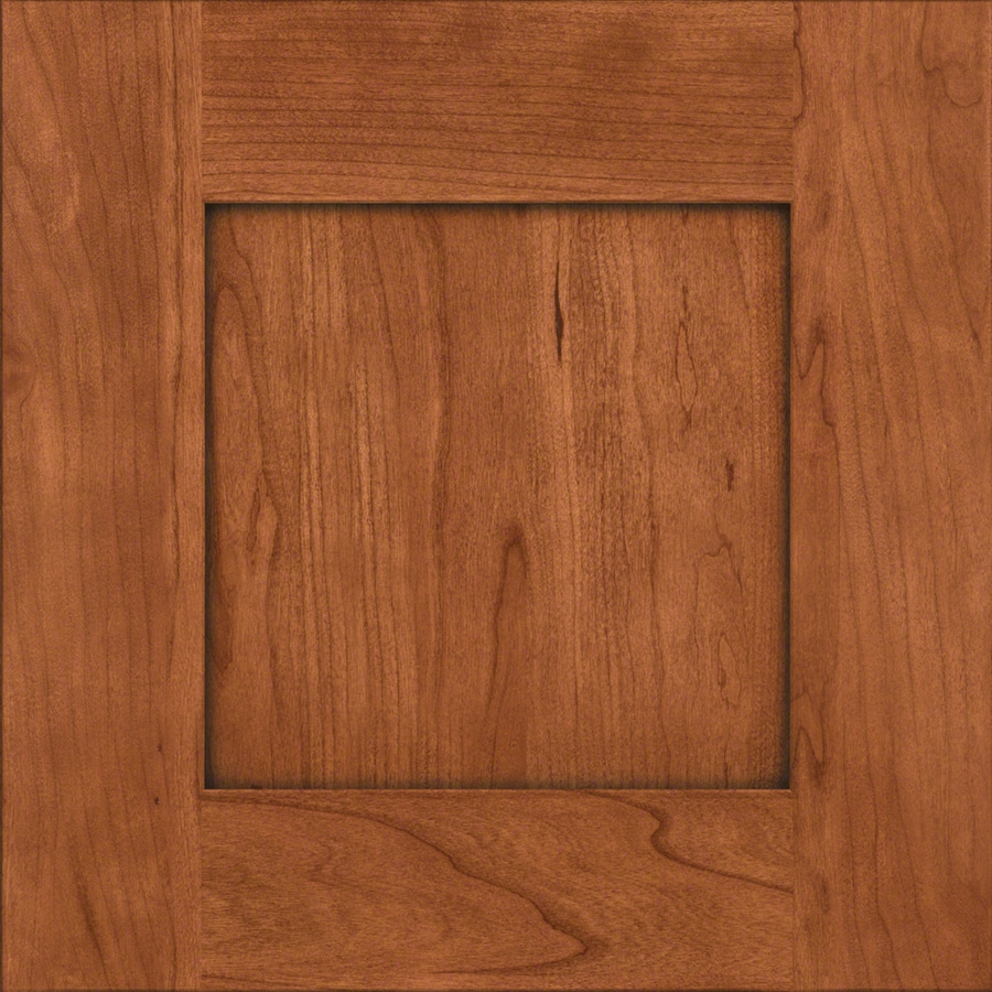 KraftMaid Durham Cherry Cinnamon 15-in x 15-in Cinnamon Stained Cherry Square Cabinet Sample