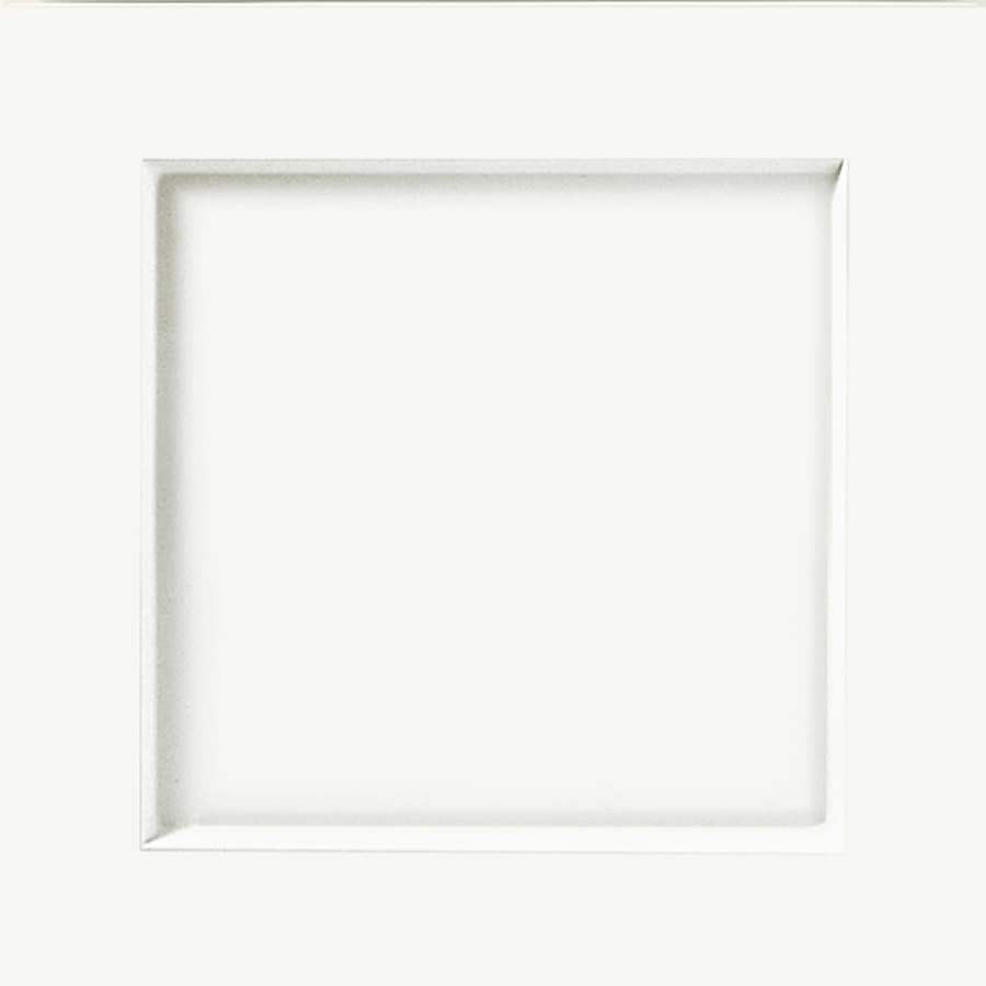 KraftMaid Whiteplains Thermofoil White 15-in x 15-in White Prefinished  Cabinet Sample