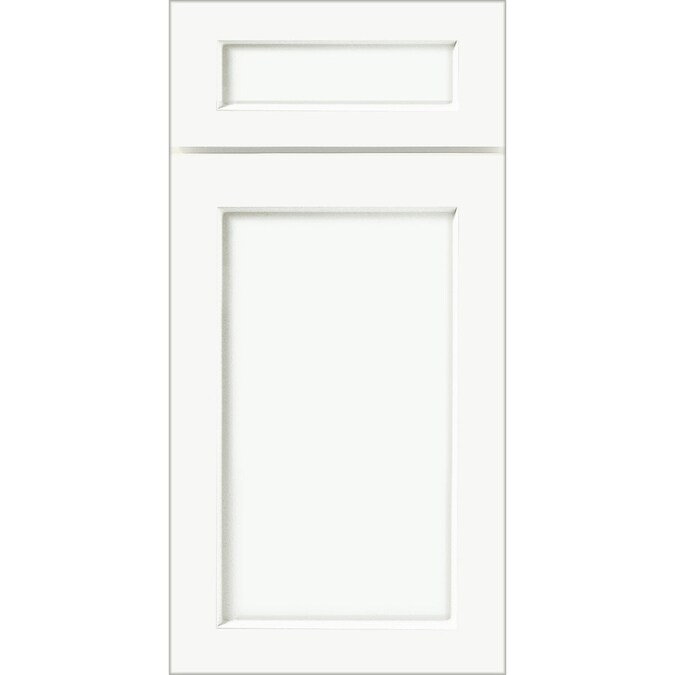 KraftMaid Whiteplains White 15-in x 15-in White Engineered ...