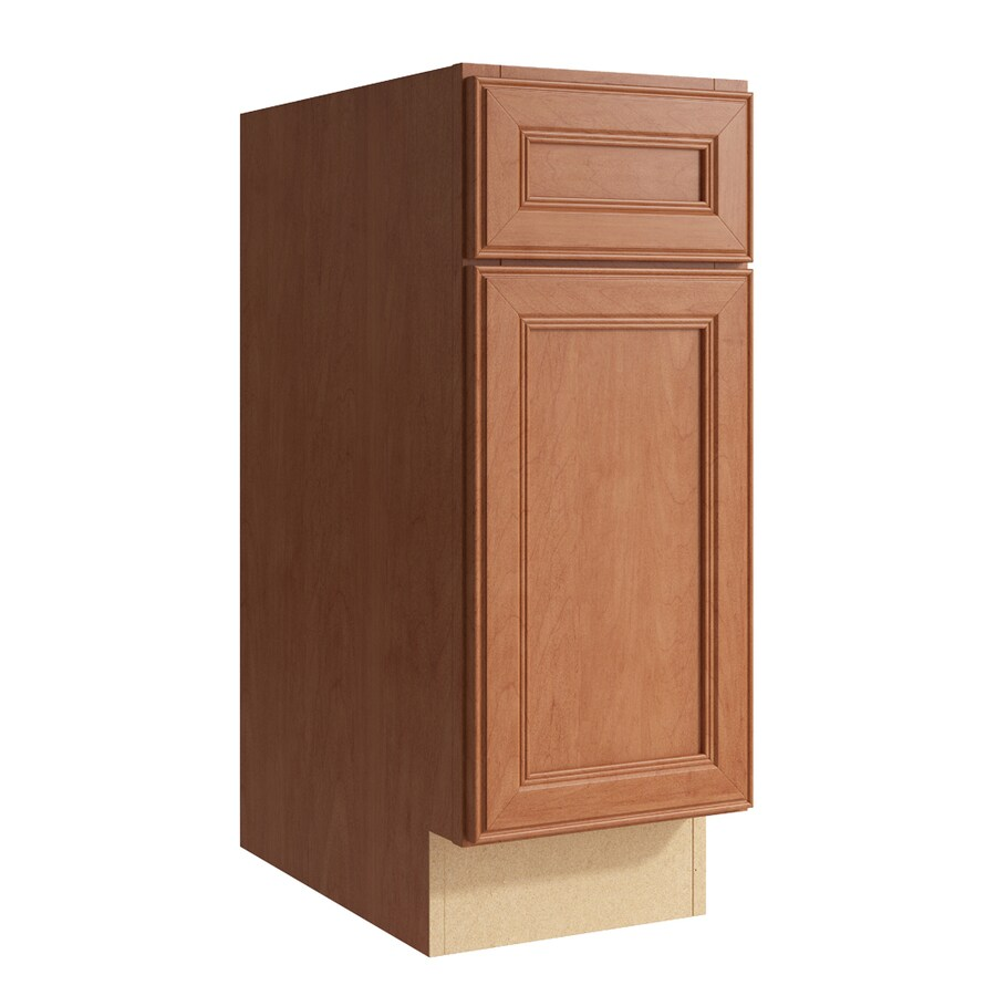 KraftMaid Momentum Hazelnut Bellamy 1-Door Right-Hinged Base Cabinet (Common: 12-in x 21-in x 31.5-in; Actual: 12-in x 21-in x 31.5-in)