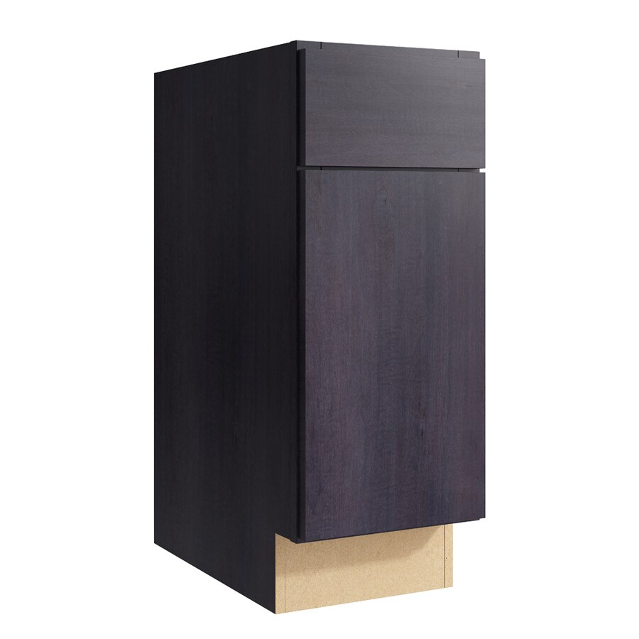 KraftMaid Momentum Dusk Frontier 1-Door Right-Hinged Base Cabinet (Common: 12-in x 21-in x 31.5-in; Actual: 12-in x 21-in x 31.5-in)