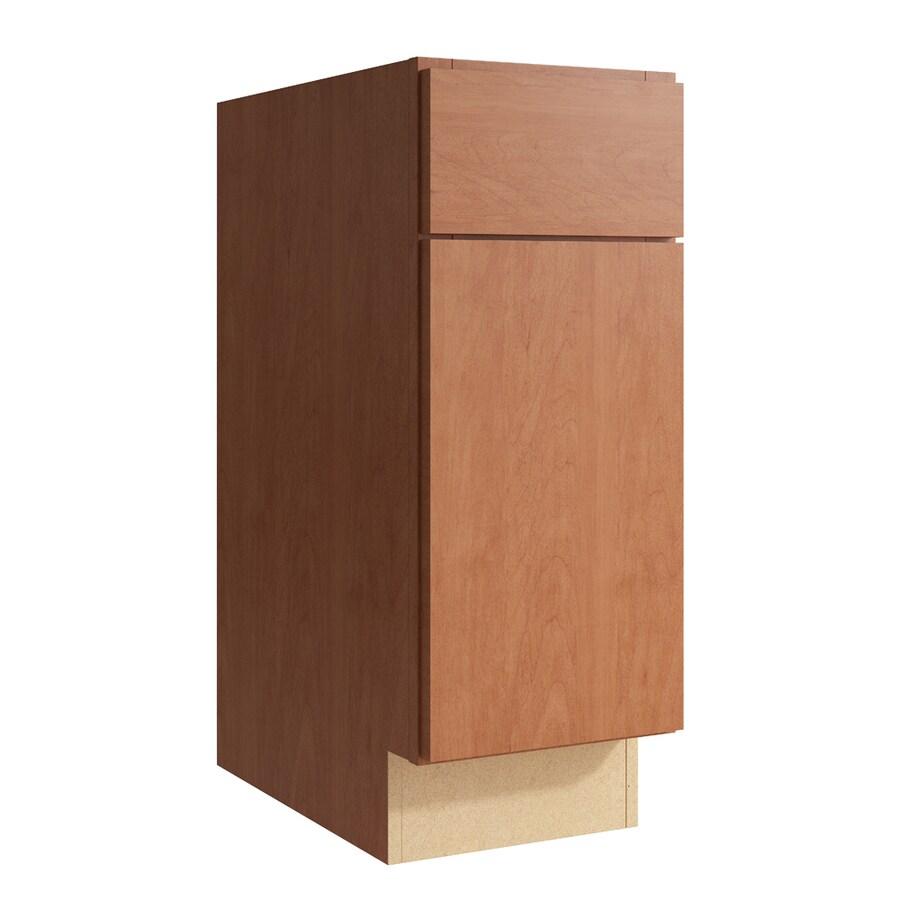 KraftMaid Momentum Hazelnut Frontier 1-Door Right-Hinged Base Cabinet (Common: 12-in x 21-in x 31.5-in; Actual: 12-in x 21-in x 31.5-in)