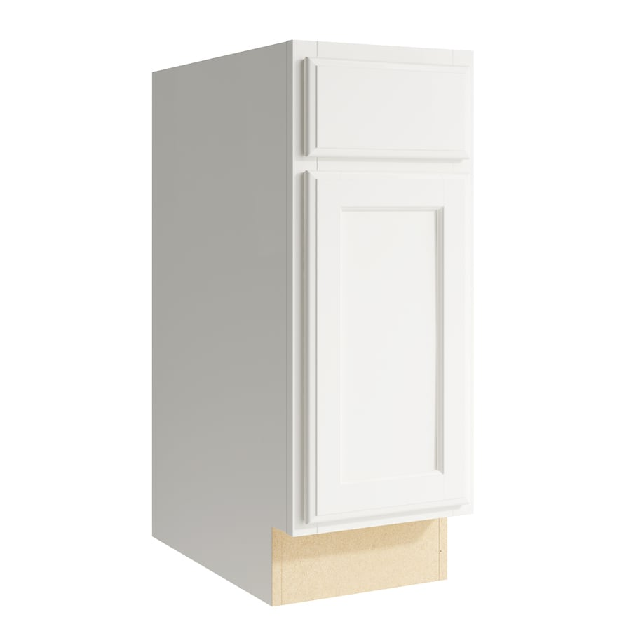 KraftMaid Momentum Cotton Kingston 1-Door Right-Hinged Base Cabinet (Common: 12-in x 21-in x 31.5-in; Actual: 12-in x 21-in x 31.5-in)