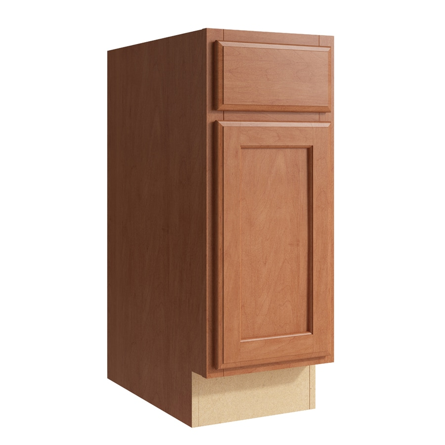KraftMaid Momentum Hazelnut Kingston 1-Door Right-Hinged Base Cabinet (Common: 12-in x 21-in x 31.5-in; Actual: 12-in x 21-in x 31.5-in)
