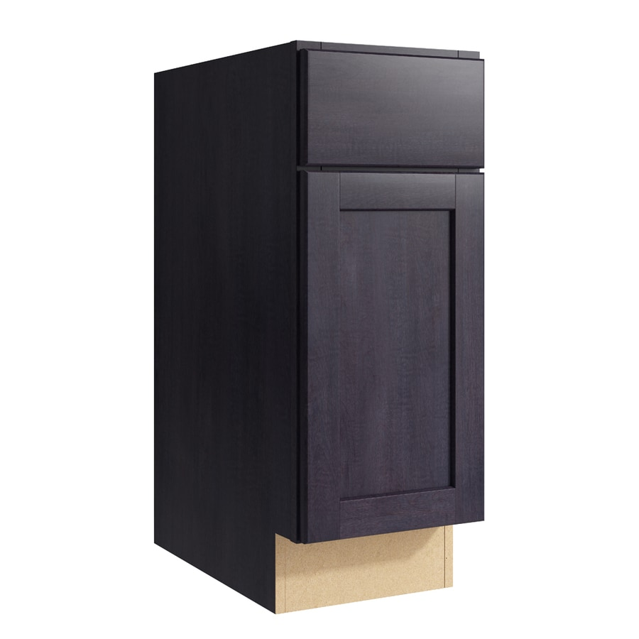 KraftMaid Momentum Dusk Paxton 1-Door Right-Hinged Base Cabinet (Common: 12-in x 21-in x 31.5-in; Actual: 12-in x 21-in x 31.5-in)