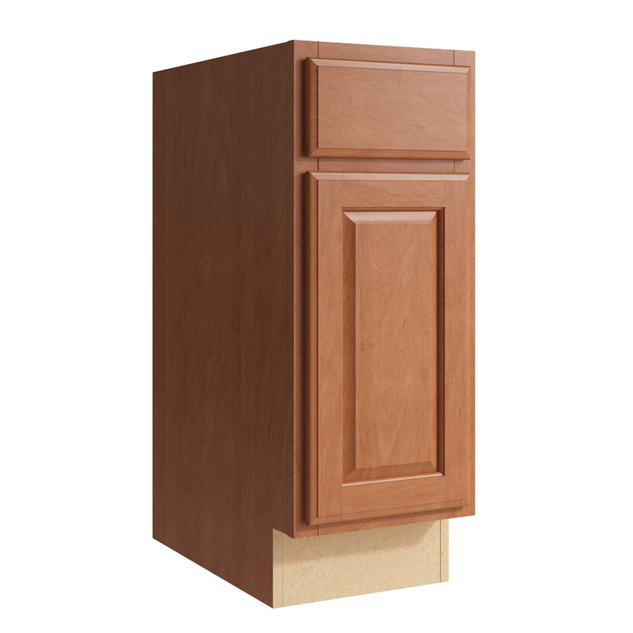 KraftMaid Momentum Hazelnut Settler 1-Door Right-Hinged Base Cabinet (Common: 12-in x 21-in x 31.5-in; Actual: 12-in x 21-in x 31.5-in)