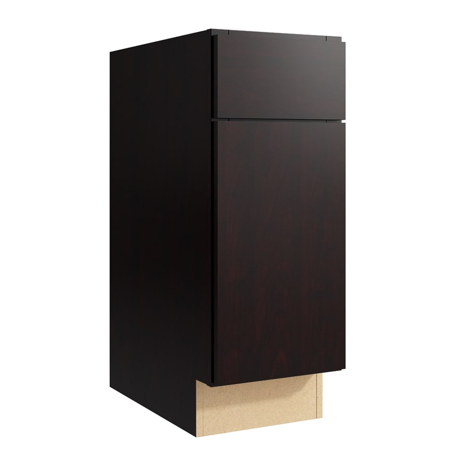 KraftMaid Momentum Kona Frontier 1-Door Left-Hinged Base Cabinet (Common: 12-in x 21-in x 31.5-in; Actual: 12-in x 21-in x 31.5-in)