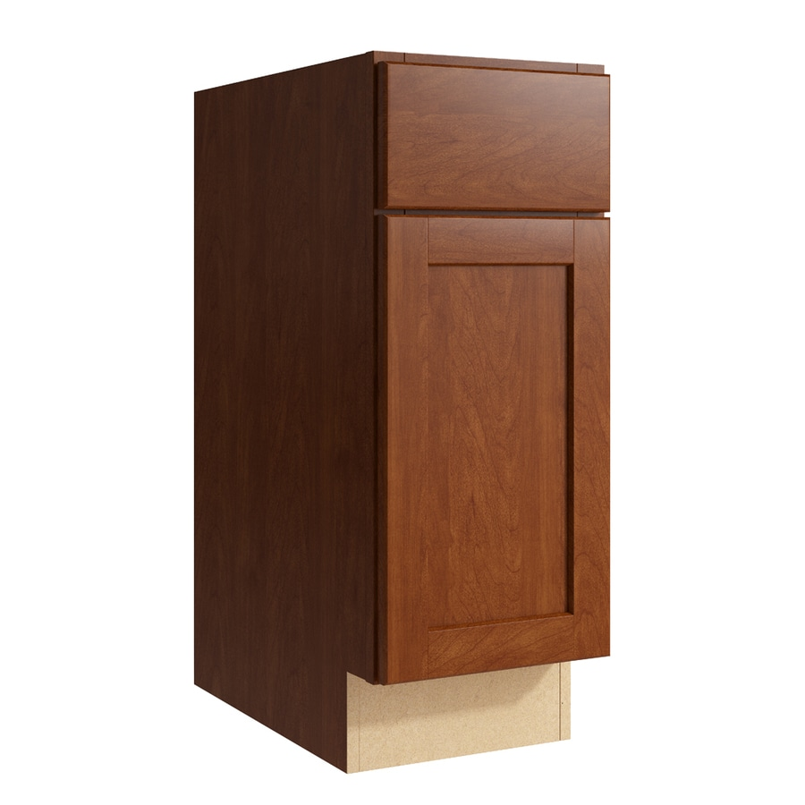 KraftMaid Momentum Sable Paxton 1-Door Left-Hinged Base Cabinet (Common: 12-in x 21-in x 31.5-in; Actual: 12-in x 21-in x 31.5-in)