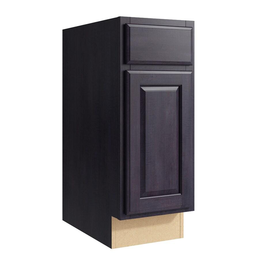 KraftMaid Momentum Dusk Settler 1-Door Left-Hinged Base Cabinet (Common: 12-in x 21-in x 31.5-in; Actual: 12-in x 21-in x 31.5-in)