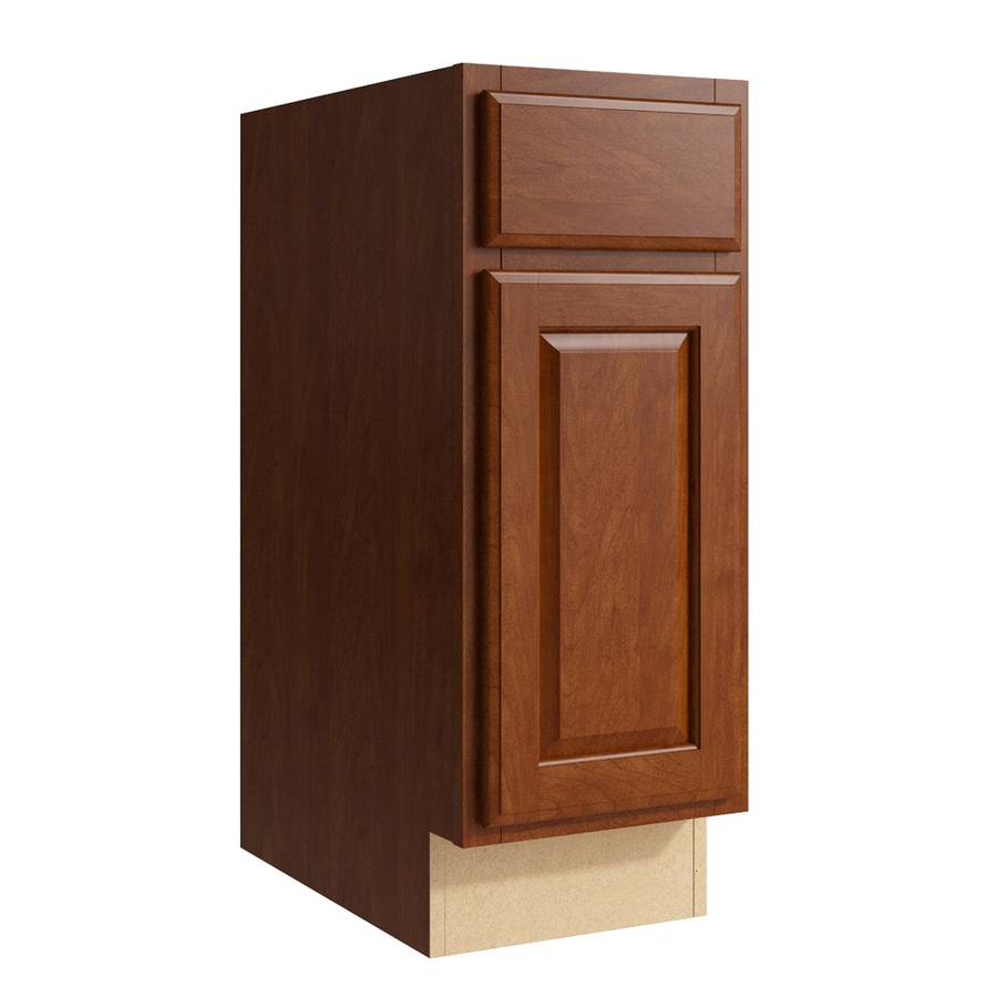 KraftMaid Momentum Sable Settler 1-Door Left-Hinged Base Cabinet (Common: 12-in x 21-in x 31.5-in; Actual: 12-in x 21-in x 31.5-in)