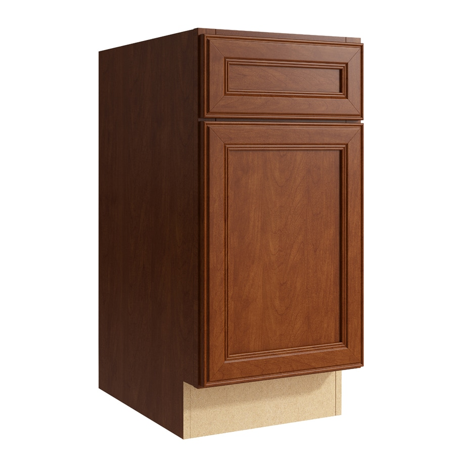 KraftMaid Momentum Sable Bellamy 1-Door Right-Hinged Base Cabinet (Common: 15-in x 21-in x 31.5-in; Actual: 15-in x 21-in x 31.5-in)