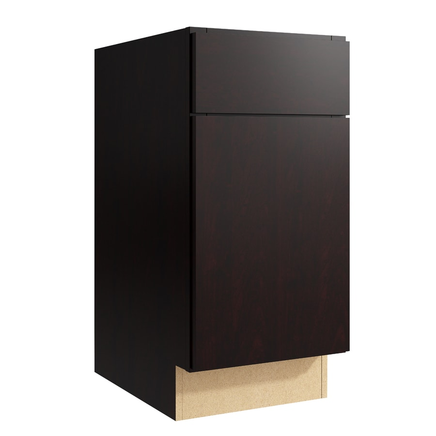 KraftMaid Momentum Kona Frontier 1-Door Right-Hinged Base Cabinet (Common: 15-in x 21-in x 31.5-in; Actual: 15-in x 21-in x 31.5-in)