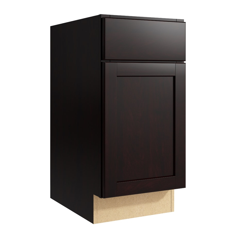 KraftMaid Momentum Kona Paxton 1-Door Right-Hinged Base Cabinet (Common: 15-in x 21-in x 31.5-in; Actual: 15-in x 21-in x 31.5-in)