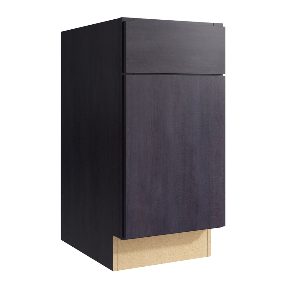 KraftMaid Momentum Dusk Frontier 1-Door Left-Hinged Base Cabinet (Common: 15-in x 21-in x 31.5-in; Actual: 15-in x 21-in x 31.5-in)