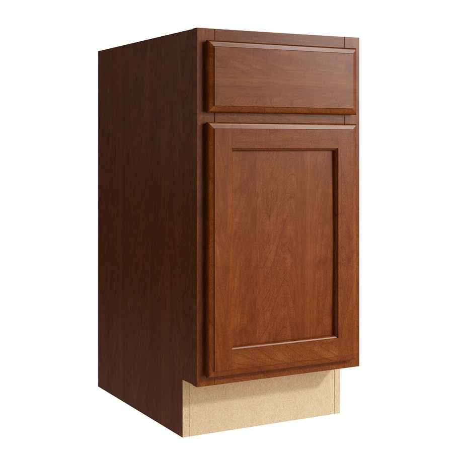 KraftMaid Momentum Sable Kingston 1-Door Left-Hinged Base Cabinet (Common: 15-in x 21-in x 31.5-in; Actual: 15-in x 21-in x 31.5-in)
