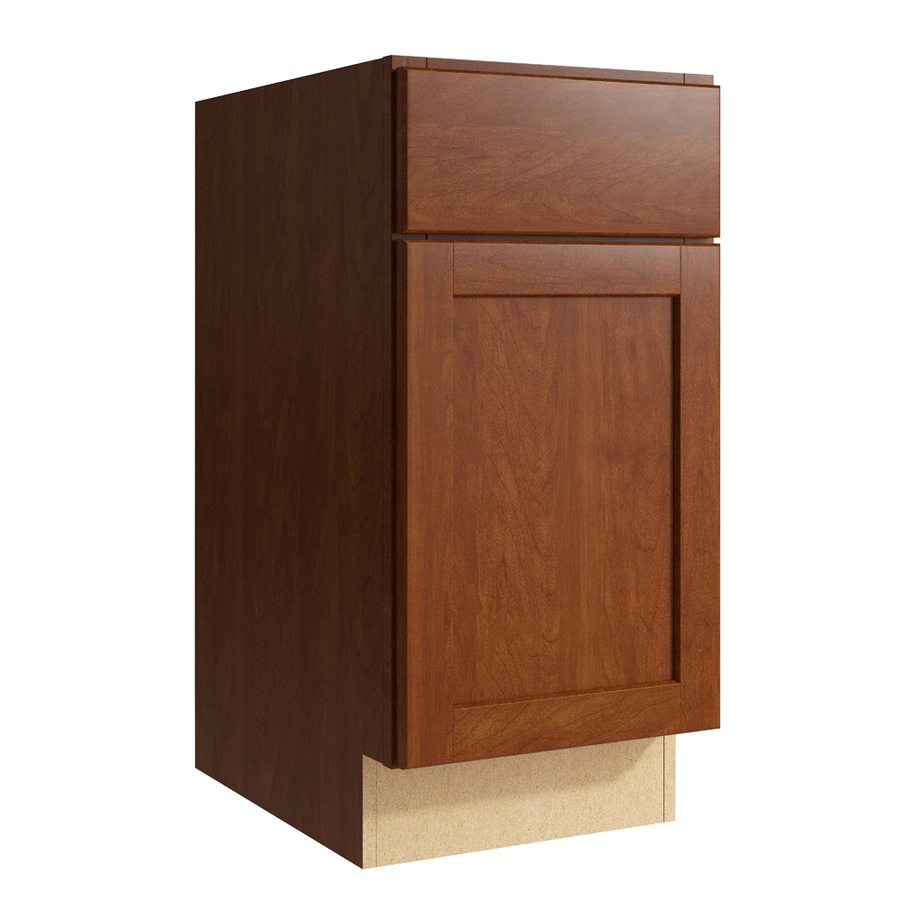 KraftMaid Momentum Sable Paxton 1-Door Left-Hinged Base Cabinet (Common: 15-in x 21-in x 31.5-in; Actual: 15-in x 21-in x 31.5-in)