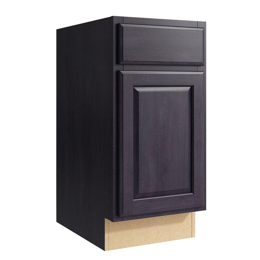 KraftMaid Momentum Dusk Settler 1-Door Left-Hinged Base Cabinet (Common: 15-in x 21-in x 31.5-in; Actual: 15-in x 21-in x 31.5-in)