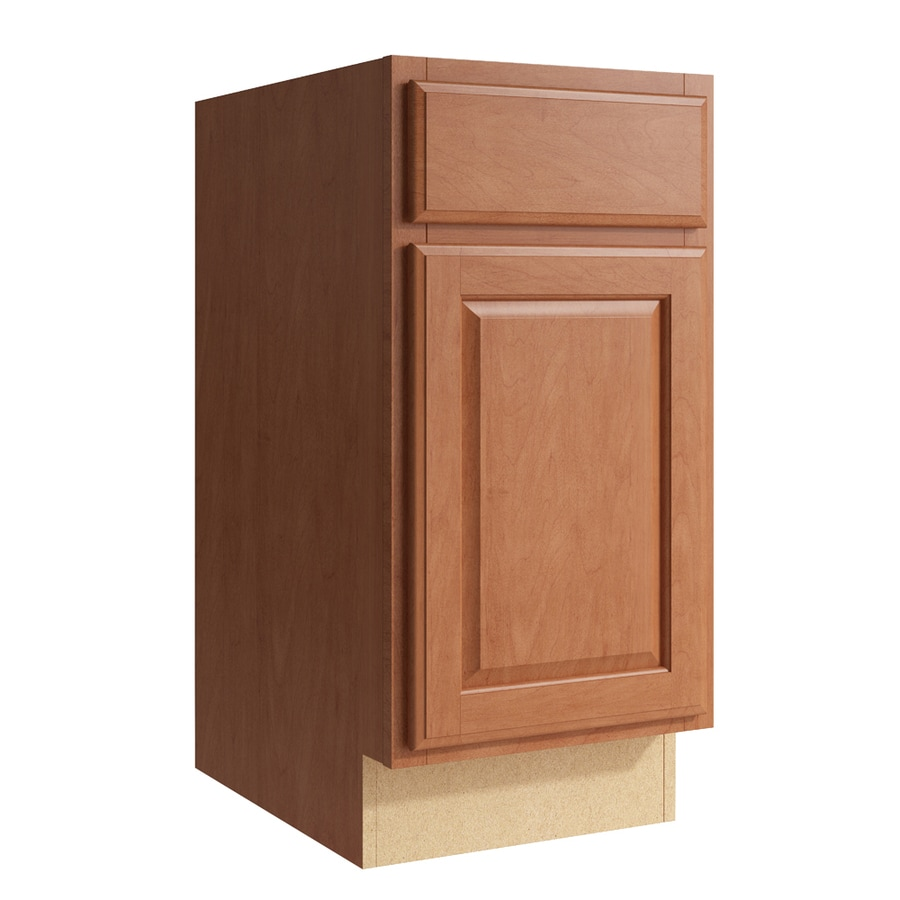 KraftMaid Momentum Hazelnut Settler 1-Door Left-Hinged Base Cabinet (Common: 15-in x 21-in x 31.5-in; Actual: 15-in x 21-in x 31.5-in)