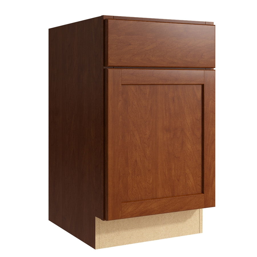 KraftMaid Momentum Sable Paxton 1-Door Right-Hinged Base Cabinet (Common: 18-in x 21-in x 31.5-in; Actual: 18-in x 21-in x 31.5-in)