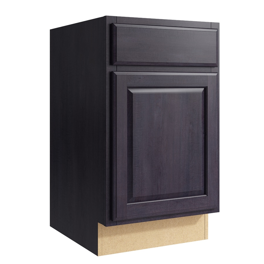 KraftMaid Momentum Dusk Settler 1-Door Right-Hinged Base Cabinet (Common: 18-in x 21-in x 31.5-in; Actual: 18-in x 21-in x 31.5-in)