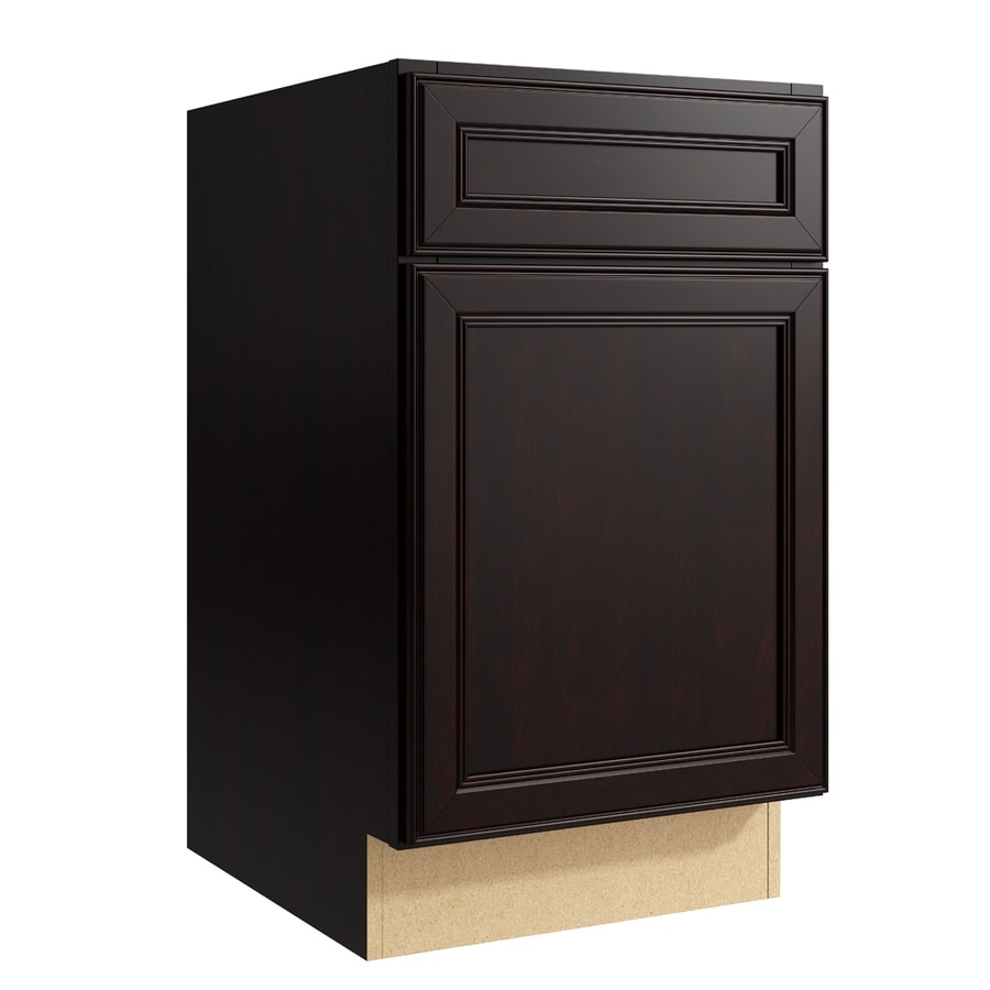 KraftMaid Momentum Kona Bellamy 1-Door Left-Hinged Base Cabinet (Common: 18-in x 21-in x 31.5-in; Actual: 18-in x 21-in x 31.5-in)